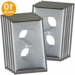 duplex receptacle outlet wall plate covers stainless