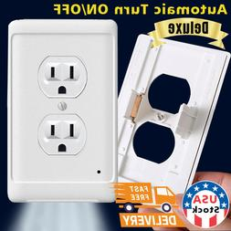 Duplex Wall Outlet Cover wall plate with led night lights Am