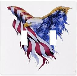 Eagle Flag Patriotic Wallplate Wall Plate Decorative Light S