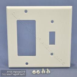 Leviton Electrical Wall Plate, Combination, 1 Decora and 1 T