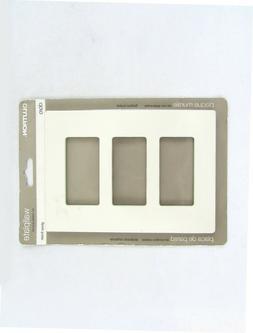 Lutron Electrical Wall Plate, Claro Decorator Screwless, 3Ga