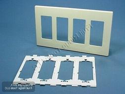 Leviton Electrical Wall Plate, Decora Plus Screwless, 4Gang