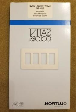 Lutron Electrical Wall Plate, Satin Colors Screwless Decorat