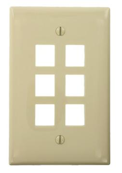 Leviton Electrical Wall Plate, Midway Sized QuickPort Six Po