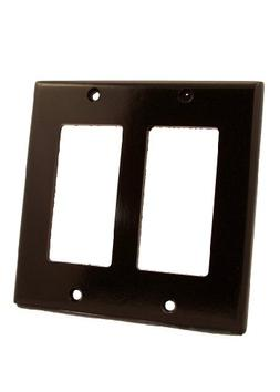 Leviton Electrical Wall Plate, Decora, 2Gang Brown