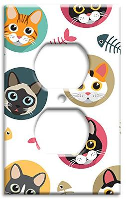 Art Plates Brand Electrical Outlet Wall / Switch Plate - Cat