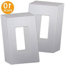 ENERLITES Elite Series Decorator Screwless Wall Plate Decora