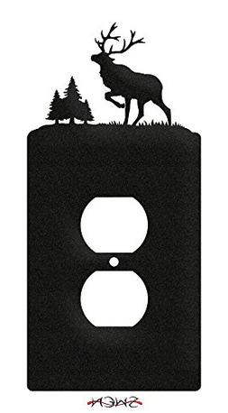 SWEN Products ELK WILDLIFE CARIBOU Wall Plate Cover