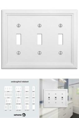 Elly 3-Gang Toggle Wall Plate, White