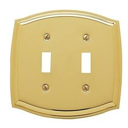 Baldwin Estate 4766.030.CD Colonial Double Toggle Wall Plate