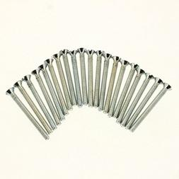 """20 Pack Extra Long 1 - 1/2 """" 6 - 32 Screw Flat Head Device M"""