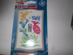 GE  FLORAL DECORATOR STEEL WALL PLATE LIGHT SWITCH COVER FLA