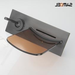 <font><b>Wall</b></font> Mounted Copper Black Concealed Glas
