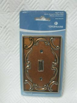 Brainerd French Lace Single Toggle Wall Plate 223081 Sponged