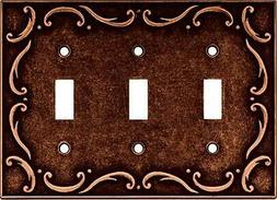 Brainerd French Lace Triple Switch Wall Plate, Available in
