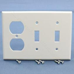 Leviton 88021 3-Gang 2-Toggle 1-Duplex Combination Wallplate