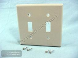Leviton 87009 2-Gang Toggle Device Switch Wallplate, Standar