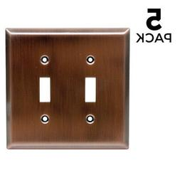 GE 57383 Double Switch Wall Plate , Copper Finish