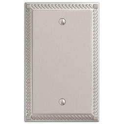 Amerelle Georgian 1 Blank Wall Plate Nickel 54BN - New