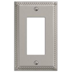 Amerelle Georgian 1 Decora Wall Plate - Satin Nickel Cast