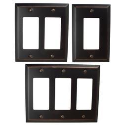 GlideRite Oil Rubbed Bronze Light Switch Cover Steel Rocker