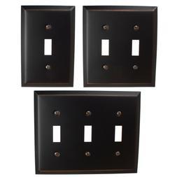 GlideRite Oil Rubbed Bronze Light Switch Cover Steel Despard
