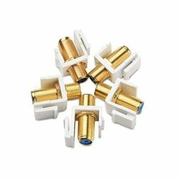 Cable Matters  Gold-Plated RG6 Keystone Jack  Insert