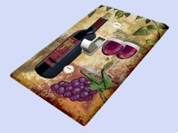 Grapes and Red Wine Switchplate - Single Toggle Switch Plate