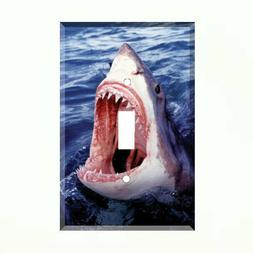 Great White Shark Light Switch Plate Wall Cover Jaws  Underw