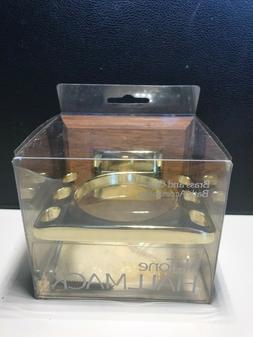 Nutone Hallmack Brass and Oak bath Accessories HM 3907H