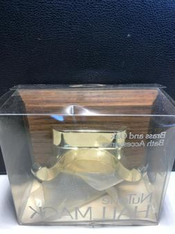 Nutone Hallmack Brass and Oak bath Accessories HM 3901H