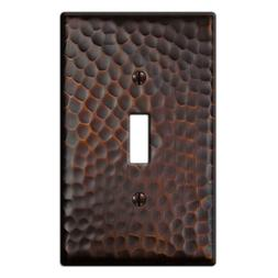 Hampton Bay Hammered 1 Toggle Wall Plate - Aged Bronze 156TD