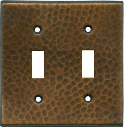 Hammered in Antique Copper  Switch Plates, Wall Plates & Out