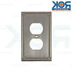Rok Hardware Wall Plate Receptacle Power Outlet Cover Tradit