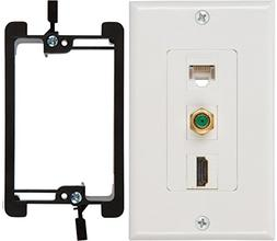 Buyer's Point HDMI 3GHz Coax Ethernet Wall Plate with Single