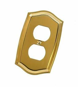 6/Pack American Tack & Hdwe Co 76Dbr Duplex Plate P.Brass