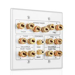 TNP Home Theater Speaker Wall Plate Outlet - 7.1 Surround So