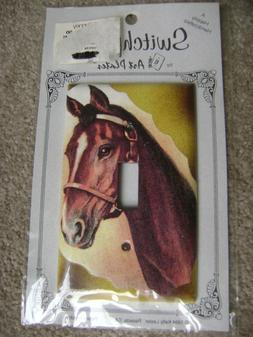 HORSE WALL SWITCH PLATE NEW IN PKG BY ART PLATES LIGHT SWITC