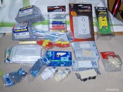 Household electrical accessories, parts, outlets, plates, ou