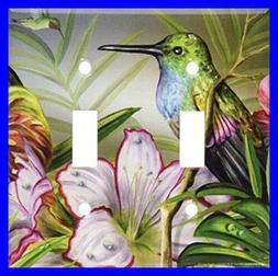 Art Plates - Hummingbird at Rest Switch Plate - Double Toggl