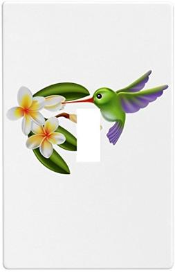 Hummingbird with Flowers Wallplate Decorative Light Switch P
