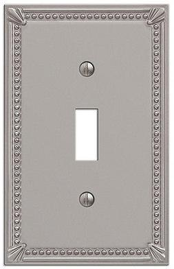 IMPERIAL BEAD BRUSHED NICKEL 1 SINGLE TOGGLE SWITCHPLATE WAL