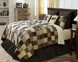 Kettle Grove Black/Grey KING Quilt FARMHOUSE Bedding-Choose