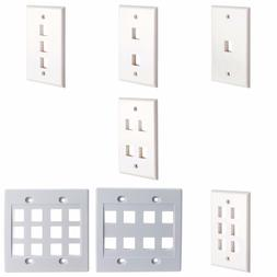 keystone jack wall plate white or ivory