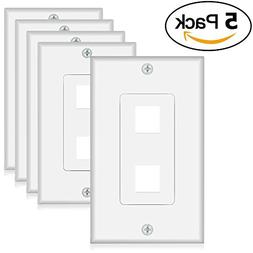 keystone wall plate 2 port (5 Pack)