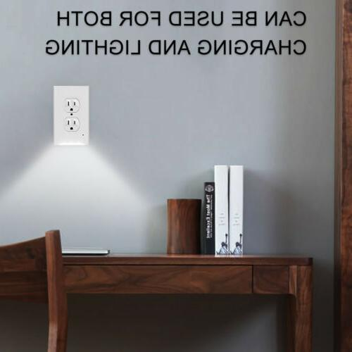 1/2/4X Wall Socket & Lights AC110V