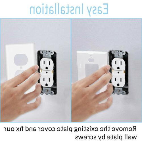 1/2/4X Outlet Wall Plate Socket US Plugs Cover & Porch Lights