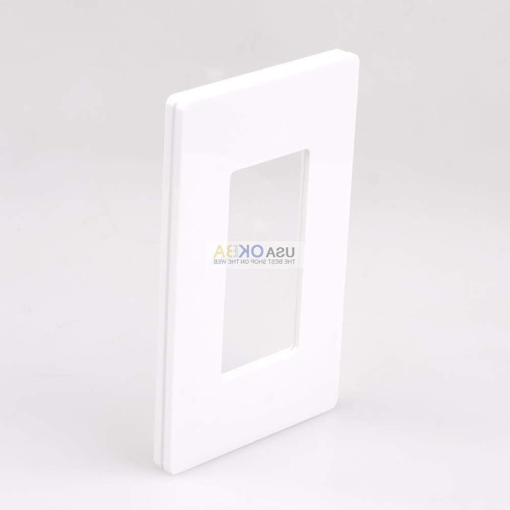 1-4 Screwless Plate GFCI Switch White