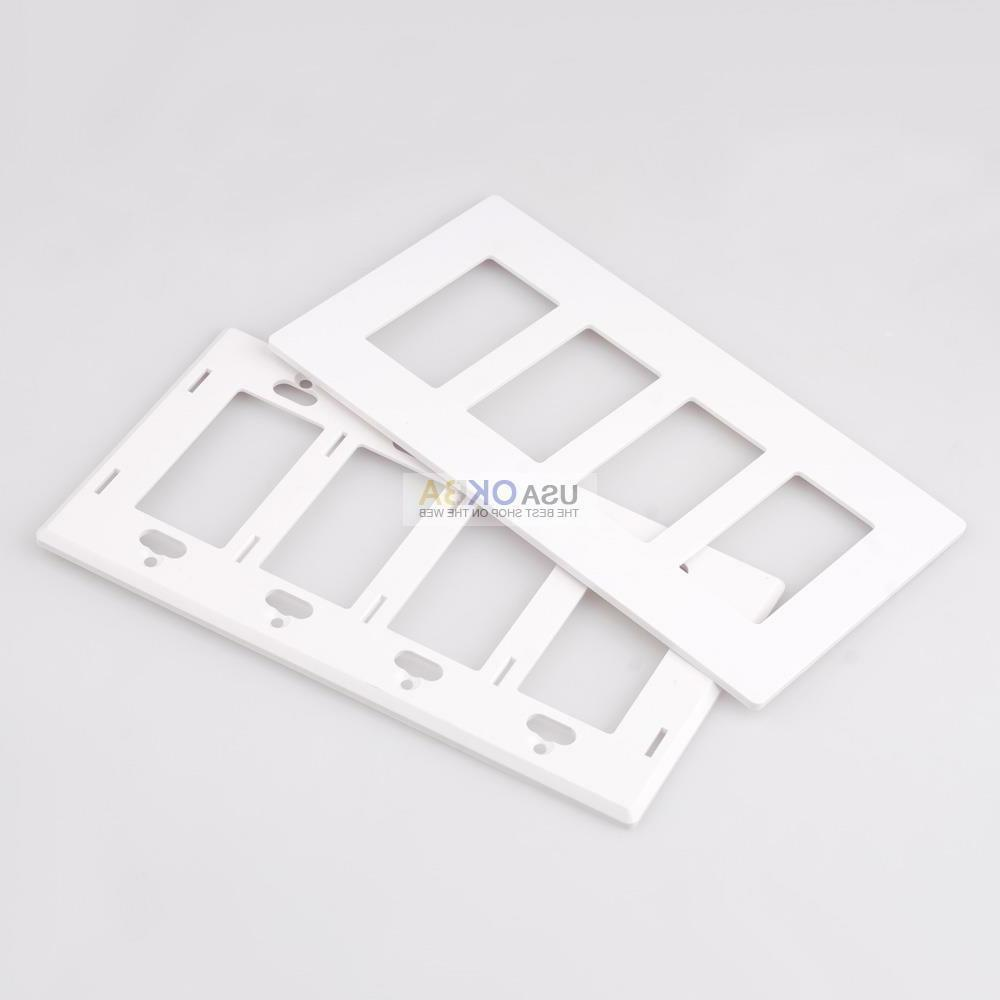 1-4 Screwless Plate GFCI Switch Outlet Covers