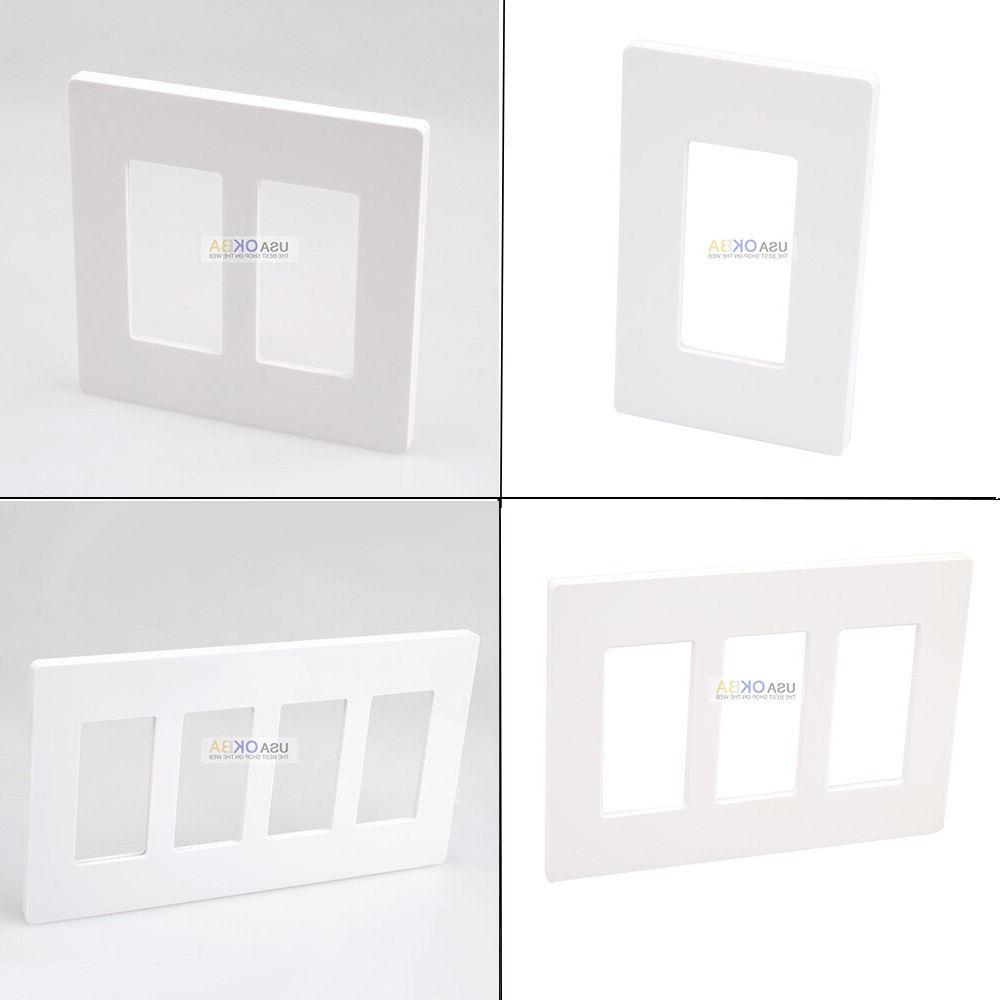 1-4 Gang Screwless Plate GFCI Switch Outlet